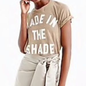 """J. Crew """"Made in The Shade"""" T-Shirt Top Linen S"""